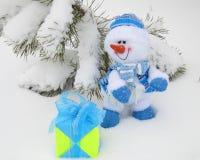 Bonhomme de neige de Noël - photos courantes Photographie stock