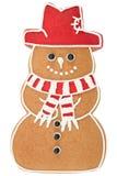 Bonhomme de neige de pain d'épice photographie stock