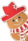 Bonhomme de neige de pain d'épice photographie stock libre de droits