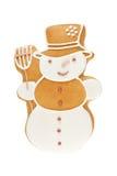 Bonhomme de neige de pain d'épice photo stock