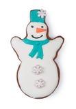 Bonhomme de neige de pain d'épice photo libre de droits