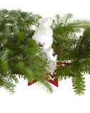 bonhomme de neige de pin caché par branchements Photographie stock libre de droits