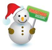 Bonhomme de neige de remise de Noël Image stock