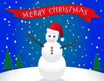 Bonhomme de neige de Santa Photo stock