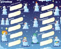 Bonhomme de neige de zodiaque Image stock