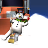 Bonhomme de neige - dernière danse Image stock