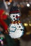 Bonhomme de neige des perles Photo libre de droits