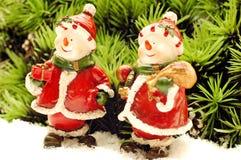 Bonhomme de neige deux Images libres de droits
