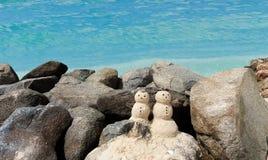 Bonhomme de neige deux arénacé dans les Caraïbe photos libres de droits