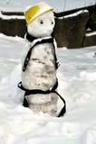 Bonhomme de neige en scène de l'hiver Image stock