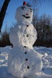 Bonhomme de neige en stationnement Photos libres de droits
