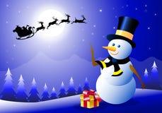 Bonhomme de neige et Iceman Images libres de droits