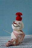 Bonhomme de neige fait main Images stock
