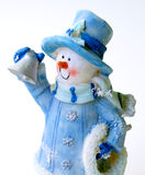 Bonhomme de neige gai Photos stock