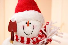 Bonhomme de neige gai image stock