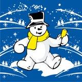 Bonhomme de neige gai Illustration Libre de Droits