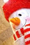 Bonhomme de neige gai Gouache sur le papier Art naïf Art abstrait Gouache de peinture sur le papier illustration de vecteur