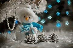 Bonhomme de neige gai l'Encore-vie Aquarelle humide de peinture sur le papier Art naïf Art abstrait Aquarelle de dessin sur le pa illustration de vecteur
