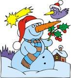 Bonhomme de neige gentil Photo stock