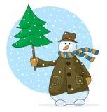 Bonhomme de neige heureux Photos libres de droits