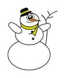 Bonhomme de neige heureux Images libres de droits
