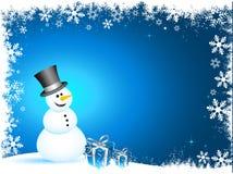 Bonhomme de neige heureux Image libre de droits