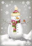 Bonhomme de neige heureux Photo libre de droits