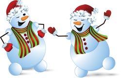 Bonhomme de neige - illustration Image stock