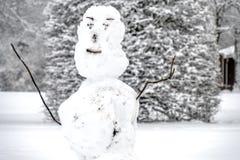 Bonhomme de neige laid dans Unterschleissheim par Munich, Allemagne photo libre de droits