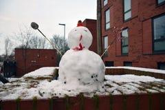 Bonhomme de neige, Leeds, West Yorkshire, R-U Photographie stock