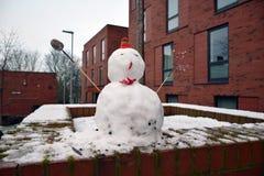 Bonhomme de neige, Leeds, West Yorkshire, R-U Photo stock