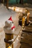 Bonhomme de neige lumineux Photo libre de droits