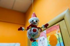 Bonhomme de neige mauvais de jouet Image libre de droits