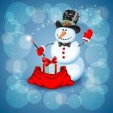 Bonhomme de neige mignon illustration de vecteur