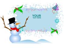 Bonhomme de neige mignon illustration libre de droits