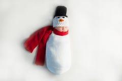 Bonhomme de neige nouveau-né de bébé Images libres de droits
