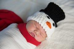 Bonhomme de neige nouveau-né de bébé Images stock