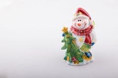 Bonhomme de neige, pavé en cailloutis ensemble du gypse. Photographie stock libre de droits
