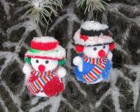 Bonhomme de neige - photo courante de Noël Photographie stock libre de droits