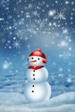 Bonhomme de neige pour la carte illustration de vecteur