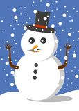Bonhomme de neige pour le MAS de ` de X photos stock