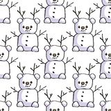 bonhomme de neige sans joint de configuration illustration de vecteur