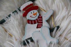 Bonhomme de neige souriant Photo libre de droits