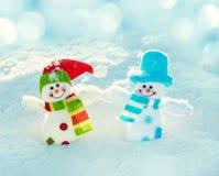 Bonhomme de neige sur la neige Image libre de droits