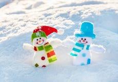 Bonhomme de neige sur la neige Photos libres de droits