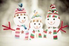 Bonhomme de neige Toy Family Photo libre de droits