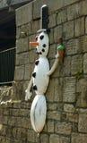 Bonhomme de neige de traînée de sculpture en Aire photo stock