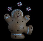 Bonhomme en pain d'épice heureux Photographie stock
