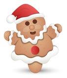 Bonhomme en pain d'épice - illustration de vecteur de Noël Photos stock
