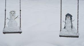 Bonhommes de neige photo stock